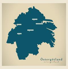 Modern Map - Östergötland SE