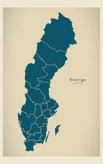 Modern Map - Sverige läns SE