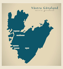 Modern Map - Västra Götaland SE