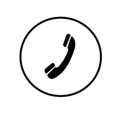 Telephone icons black and white background.