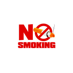 no smoking sign color vector