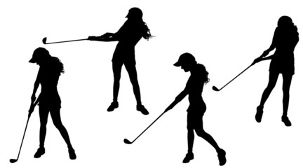 Vector silhouette of the woman.