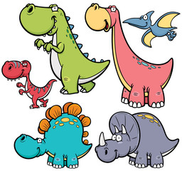 Lamas personalizadas infantiles con tu foto Vector illustration of Dinosaurs cartoon characters