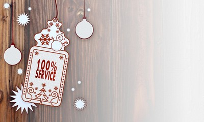 xmas coupon with service label