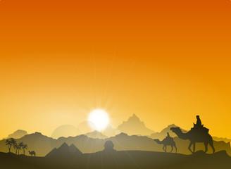 Landschaft Ägypten Pyramiden