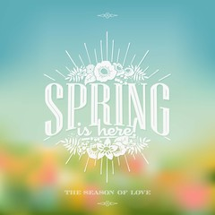 Beautiful Typographical Spring Background