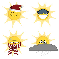 Winter sun mascots