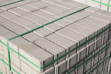 Concrete bricks.