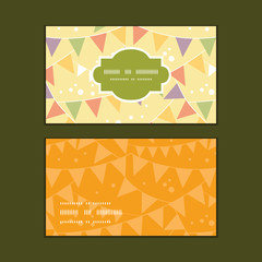 Vector party decorations bunting horizontal frame pattern