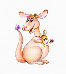 Funny kangaroo