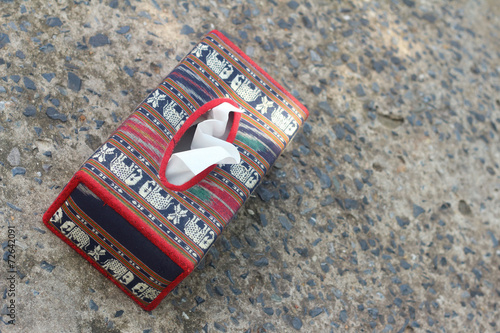 Tissue Box Elephant Is The Symbol Of Thailand Stock Photo And