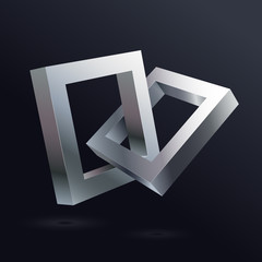 The connection of the two metallic platinum