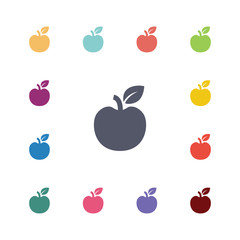 apple flat icons set.