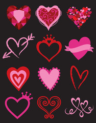 Heart Graphic Elements