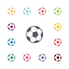ball flat icons set.