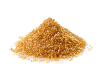 Brown sugar on white background Wall mural