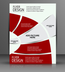 Red flyer - business cover