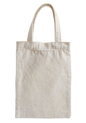 fabric bag isolated on white with clipping path