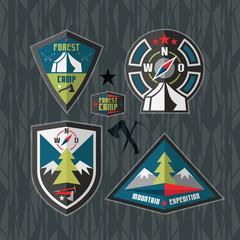 Camping and hiking badges