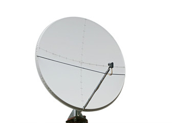 satellite dish on a white background