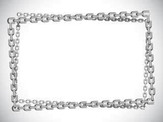 Metal chain frame.