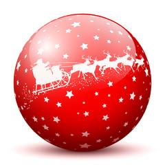 Weihnachtskugel, Textur, Silhouette, Sterne, Weihnachtsmann, 3D