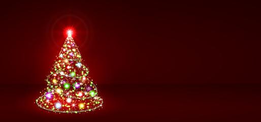 Weihnachtsbaum, Tannenbaum, Christbaum, abstrakt, rot, tree, red