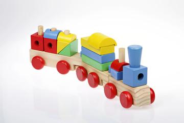 petit train rétro en bois
