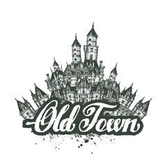 Old Town. Vector illustration, sketch, artwork
