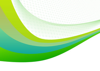 abstract light green background with waves