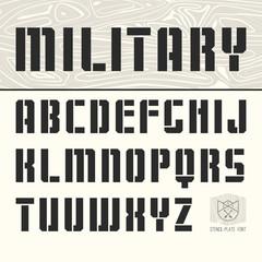 Stencil-plate sans serif font
