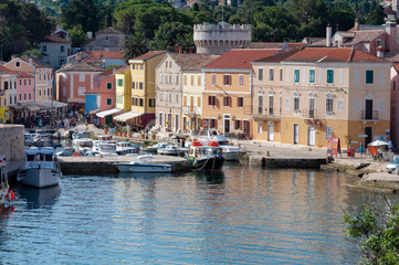 Sea port and houses at Veli Losinj