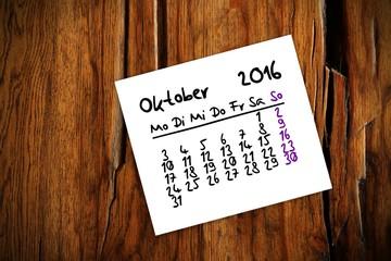zettl brettl holztisch kalender 2016 X