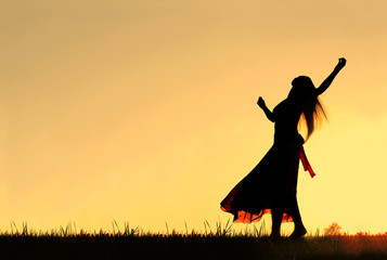 Woman Dancing Silhouette