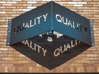 Lean Six Sigma quality business sign
