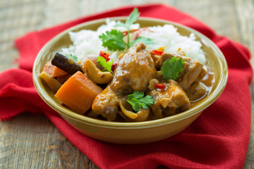 Mussaman curry au poulet
