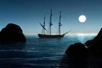 Wall Murals Ship Pirate ship