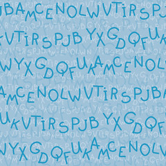 The letters. seamless texture