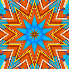 Abstract background - crazy colorful lines star