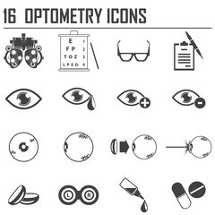 16 optometry icons