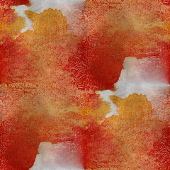 watercolor texture red, yellow, white background wallpaper seaml