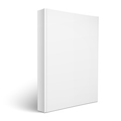 Blank vertical softcover book template.