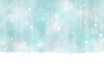 Winter bokeh background seamless horizontally