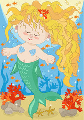 Little Mermaid on the Seabed