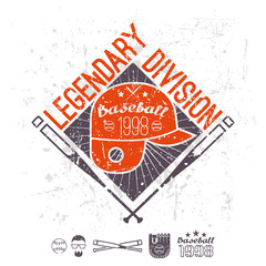Emblem baseball legendary division of college