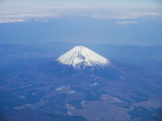 Aerial View of Mt. Fuji (富士山) in Japan