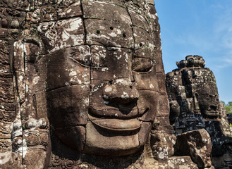 Wall Mural - Faces of Bayon temple, Angkor, Cambodia