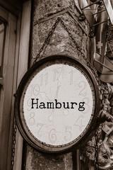 Antikes Schild, Hamburg