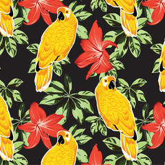 tropical bright fashion pattern