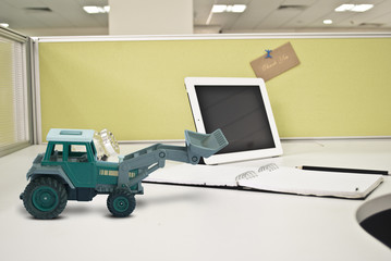 Earth mover concept with office